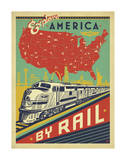 Explore America By Rail Prints by  Anderson Design Group