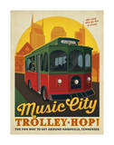 Trolley Hop Print by  Anderson Design Group