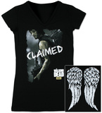 Juniors: The Walking Dead - Daryl Claimed V-Neck Cover Up T-Shirt