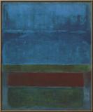 Azul, verde y marrón Obra de arte por Mark Rothko