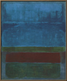 Blue, Green, and Brown Print by Mark Rothko