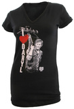 Juniors: The Walking Dead - I Heart Daryl V-Neck Cover Up T-Shirt