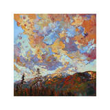 Over the Crest Giclee Print by Erin Hanson