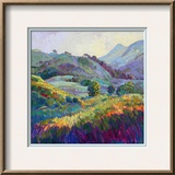 Jeweled Hills Framed Giclee Print by Erin Hanson