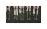 Green Socks Giclée-tryk af Kara Smith