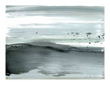 Silver Silence: Dappled Shore Giclée-Druck von Joan Davis