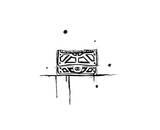 SORT/HVID Giclée-tryk af Jessica Durrant