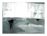 Silver Silence: Watercolor and Mist Giclée-Druck von Joan Davis