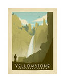 Yellowstone Giclée-tryk af Anderson Design Group