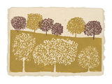 Shimmering Trees Giclee Print by  Mocchi Mocchi