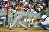Division Series - St Louis Cardinals v Los Angeles Dodgers - Game One Fotografisk tryk af Kevork Djansezian