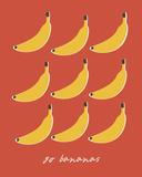 Go Bananas Giclee Print by Clara Wells