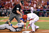 Division Series - Kansas City Royals v Los Angeles Angels of Anaheim - Game Two Photographic Print by Denis Poroy