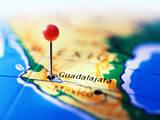 Guadalajara Marked on Map Photographic Print by Randall Fung
