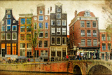 Amsterdam - Retro Styled Picture Photographic Print by  Maugli-l
