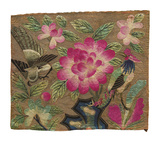 Cushion Cover, Pink Lotus and Birds Premium Giclee Print by  Oriental School