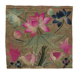 Cushion Cover, Pink Lotus and Fish Premium Giclee Print by  Oriental School