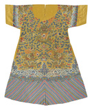 Embroidered Silk Robe, Dragons on Yellow, Front Premium Giclee Print by  Oriental School