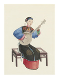 Musican VIII Premium Giclee Print by  Oriental School