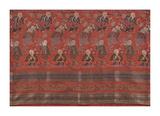 Silk Brocade, with 100 Children Design on Red Premium Giclee Print by  Oriental School