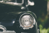 Closeup of a Soviet Classic Vintage Car . Photographic Print by  Kuzma