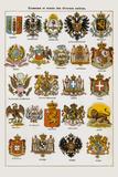 Ecussons et armes des diverses nations Giclee Print