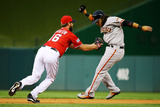 Division Series - San Francisco Giants v Washington Nationals - Game One Photographic Print by Al Bello