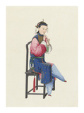 Musican III Premium Giclee Print by  Oriental School