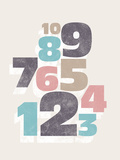 Cool Numbers Giclee Print by Max Carter