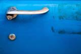 Close up of a Bright Blue Vintage Car Detail Photographic Print by BlueOrange Studio
