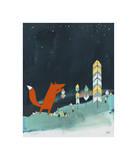 Mr. Fox is Inspired Giclée-tryk af Kristiana Pärn