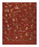 Silk Brocade, with 100 Children Design, Front Premium Giclee Print by  Oriental School