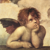Cherubs - Detail I Reproduction procédé giclée par  Raphael