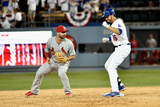 Division Series - St Louis Cardinals v Los Angeles Dodgers - Game One Photographic Print by Kevork Djansezian