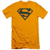 Superman - Navy & Gold Shield (slim fit) T-Shirt