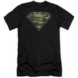 Superman - Camo Logo (slim fit) T-shirts