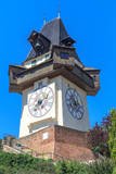 Famous Clock Tower (Uhrturm) in Graz, Styria, Austria Photographic Print by  Zechal
