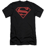 Superman - Red On Black Shield (slim fit) T-shirts