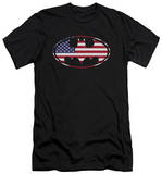 Batman - American Flag Oval (slim fit) Shirts