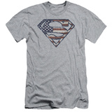 Superman - War Torn Flag (slim fit) T-shirts