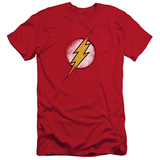 The Flash - Destroyed Flash Logo (slim fit) T-shirts