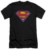 Superman - Superman Neon Distress Logo (slim fit) T-shirts