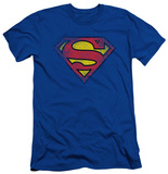 Superman - Destroyed Supes Logo (slim fit) T-shirts