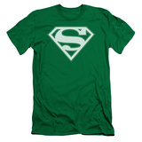 Superman - Green & White Shield (slim fit) T-shirts
