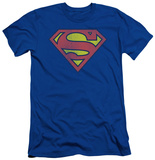 Superman - Retro Supes Logo Distressed (slim fit) Shirts