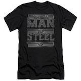 Superman - Steel Text (slim fit) T-shirts