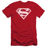 Superman - Red & White Shield (slim fit) Shirts