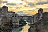 Old Bridge in Mostar Print by  dabldy