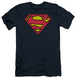 Superman - Distressed Shield (slim fit) T-shirts