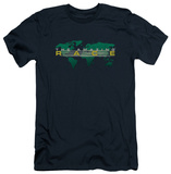 Amazing Race - Around The World (slim fit) T-Shirt